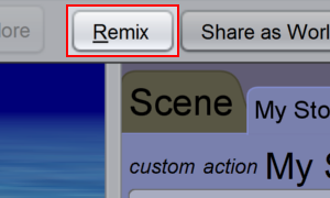 Click the 'Remix' button in the toolbar.