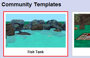 Pick a community template from the welcome screen and open it.