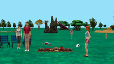 Red Panda family picnic